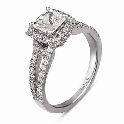 Vintage Inspired Diamond Pave Set Solea Ring Style 18RGG00051DCZ