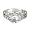 Vintage Inspired Diamond Pave Set Solea Ring Style 18RGL030DCZ