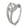 Vintage Inspired Diamond Pave Set Solea Ring Style 18RGL202DCZ