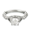 Vintage Inspired Diamond Pave Set Solea Ring Style 18RGL00435DCZ