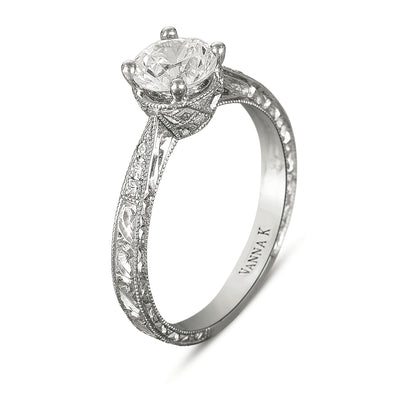Hand Engraved Perfect Profile Diamond Ring Style 18RGL00180DCZ