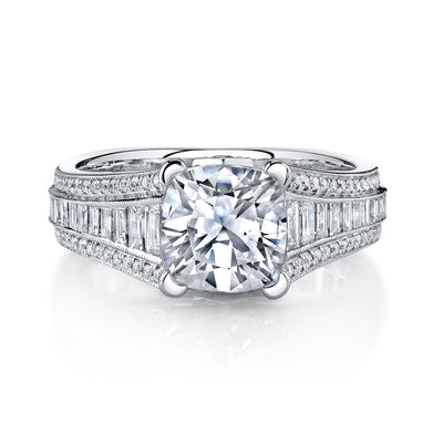 Ultra Lux Cascade Bridal Ring Style 18RGL00510DCZ