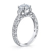 Hand Engraved Perfect Profile Diamond Ring Style 18RGL0001DCZ