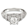 Hand Engraved Perfect Profile Diamond Ring Style 18RGL408DCZ