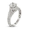 Hand Engraved Perfect Profile Diamond Ring Style 18RGL00430DCZ