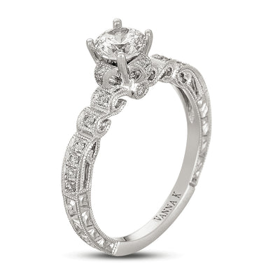 Hand Engraved Perfect Profile Diamond Ring Style 18RGL451DCZ