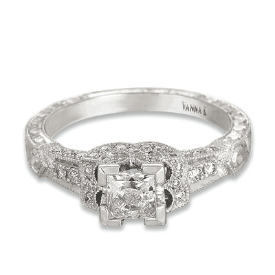 Hand Engraved Perfect Profile Diamond Ring Style 18RGL462DCZ