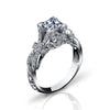 Hand Engraved Perfect Profile Diamond Ring Style 18RGL00507DCZ