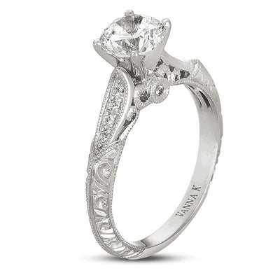 Hand Engraved Perfect Profile Diamond Ring Style 18RGL00523DCZ