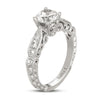 Hand Engraved Perfect Profile Diamond Ring Style 18RGL00595DCZ