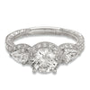 Hand Engraved Perfect Profile Diamond Ring Style 18RGL00639DCZ