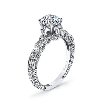 Hand Engraved Perfect Profile Diamond Ring Style 18RGL4511DCZ