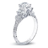 Hand Engraved Perfect Profile Diamond Ring Style 18RGL00623DCZ
