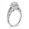 Hand Engraved Perfect Profile Diamond Ring Style 18RGL00687DCZ