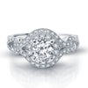 Vintage Inspired Diamond Pave Set Solea Ring Style 18RGL00720DCZ