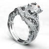 Vintage Inspired Diamond Pave Set Solea Ring Style 18RGL00723DCZ