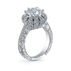 Hand Engraved Perfect Profile Diamond Ring Style 18RO23932DCZ