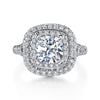Vintage Inspired Diamond Pave Set Solea Ring Style 18RGL00746DCZ