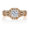 Vintage Inspired Diamond Pave Set Solea Ring Style 18RGL748PDCZ