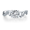 Vintage Inspired Diamond Pave Set Solea Ring Style 18R143DCZ