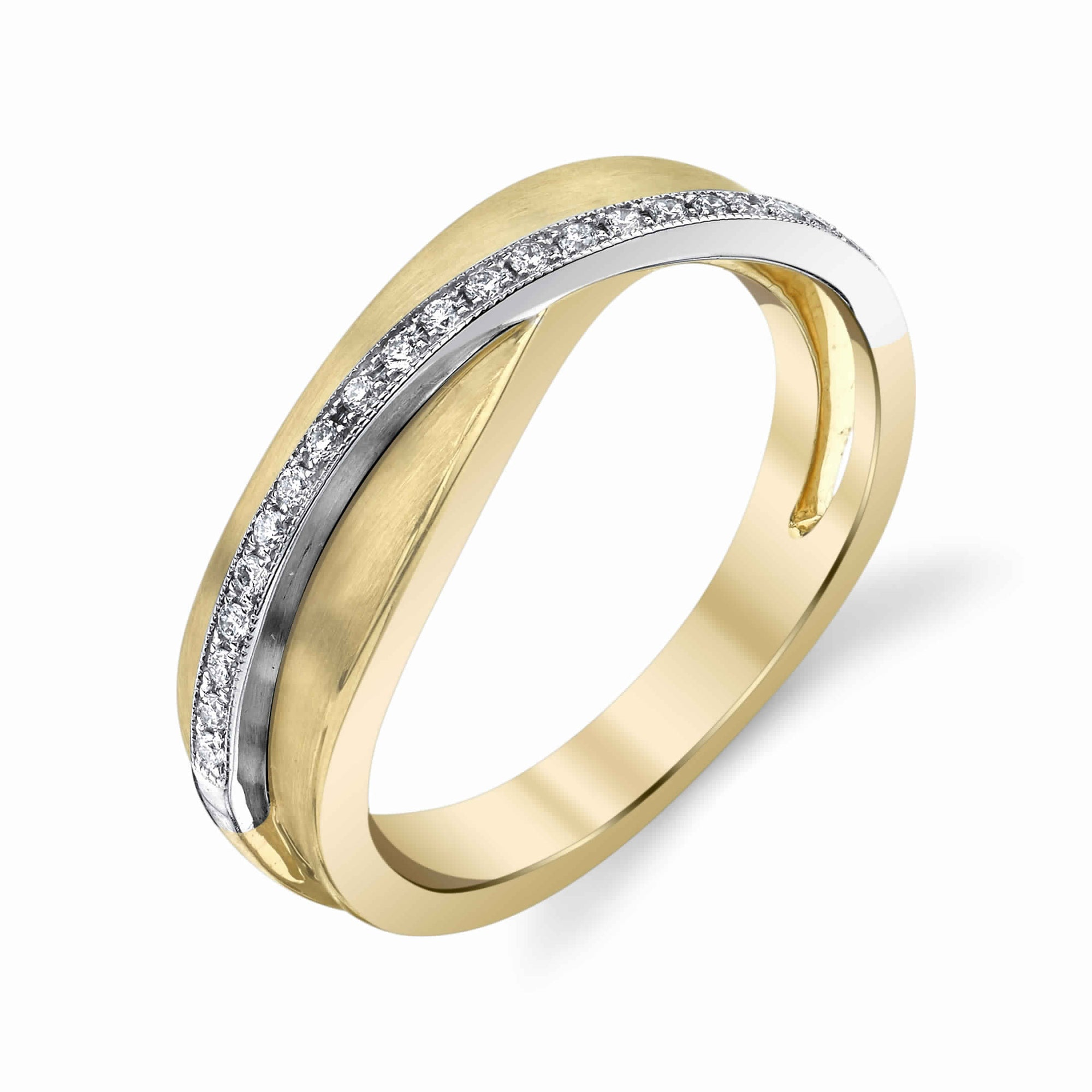 14K TWO TONE FASHION DIAMOND RING 14R85D