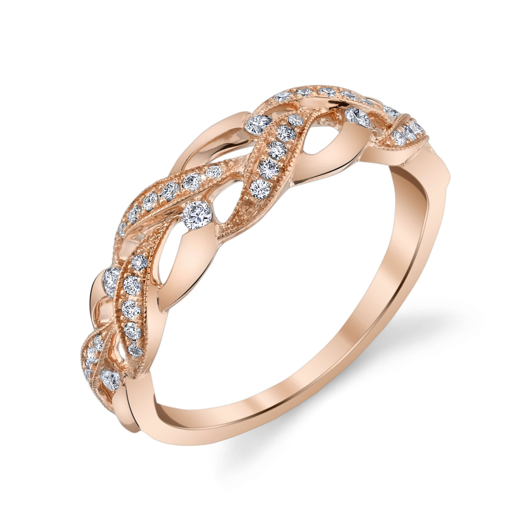 14K ROSE GOLD FASHION DIAMOND RING 14R1047YD