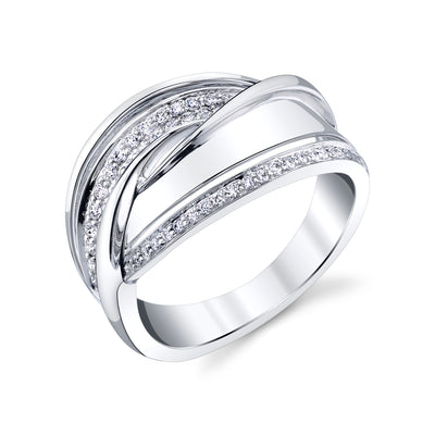 14K WHITE GOLD FASHION DIAMOND RING 14R73WD