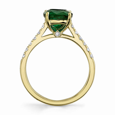 14K Yellow Gelato Emerald Stone Ring