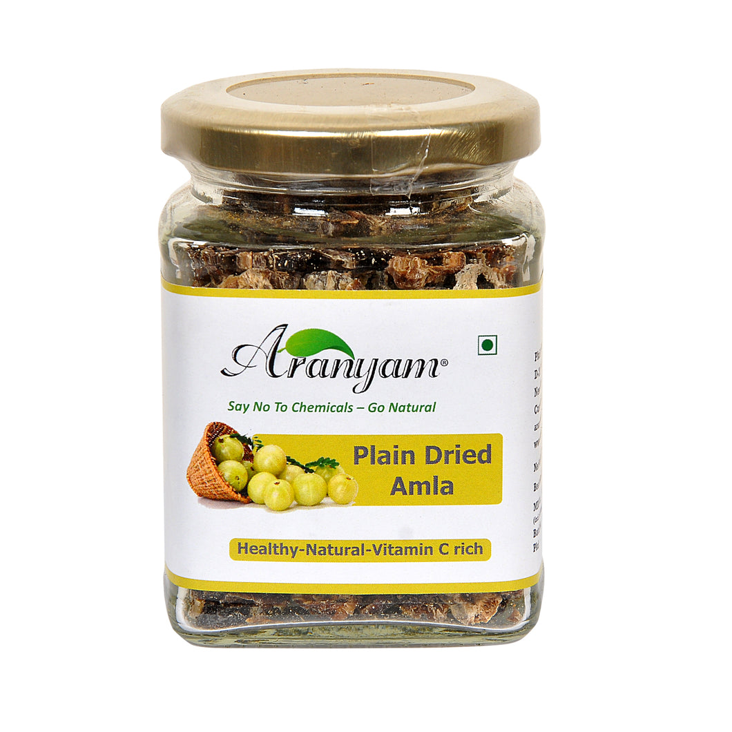 Plain Sundried Desi Amla from North East 100gm - Immunity Booster