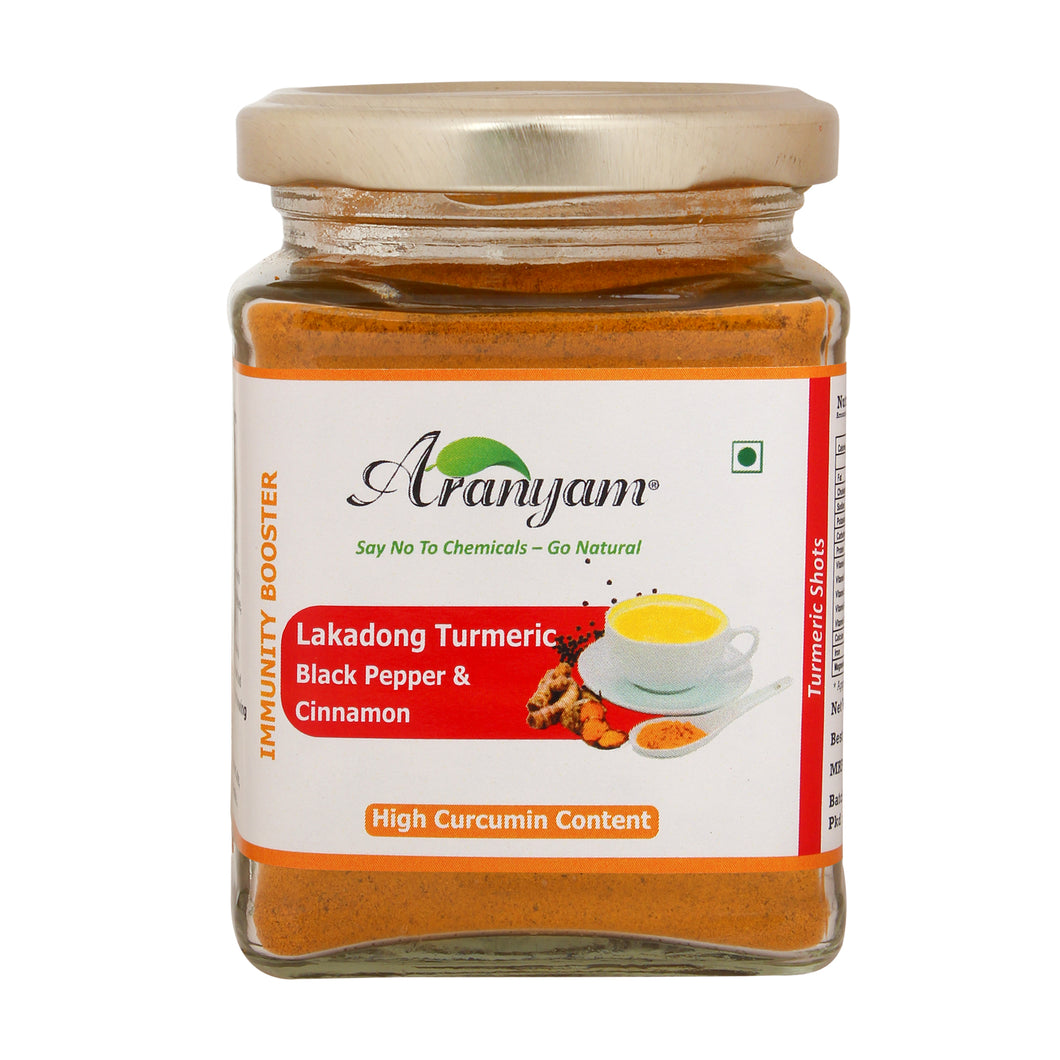 Lakadong Turmeric Mix with Black Pepper & Cinnamon -Immunity Booster