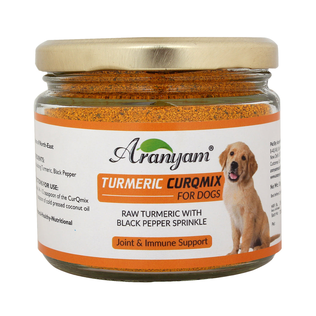 Lakadong Turmeric CurQmix for Dogs 130gm - Joint & Immune Supplement