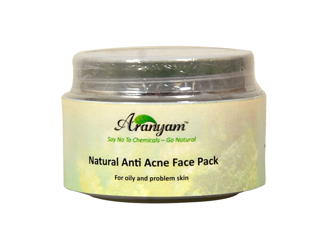 Natural Spirulina, Turmeric, Neem Anti-Acne Face Pack 30gm