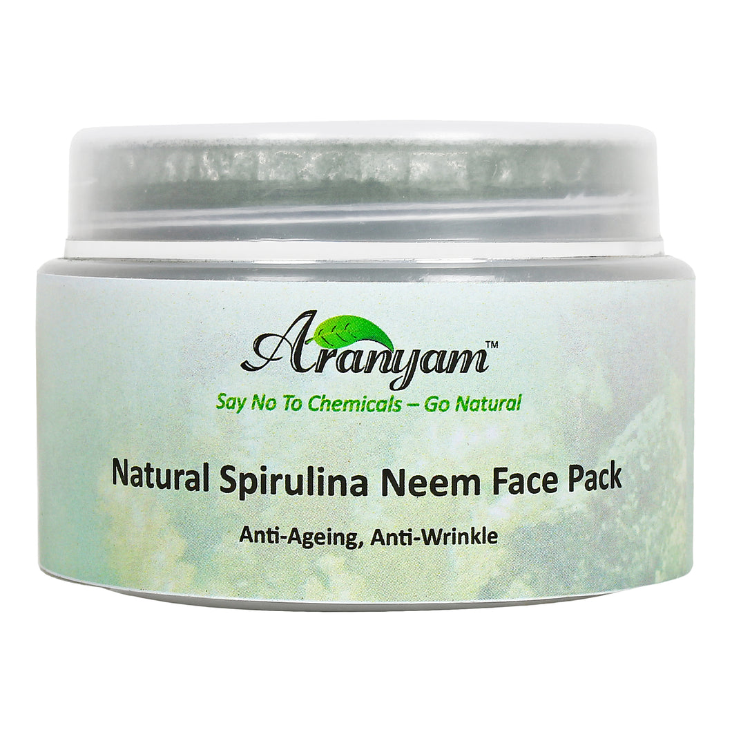Natural Anti Wrinkle Spirulina Neem Face Pack, 30gm