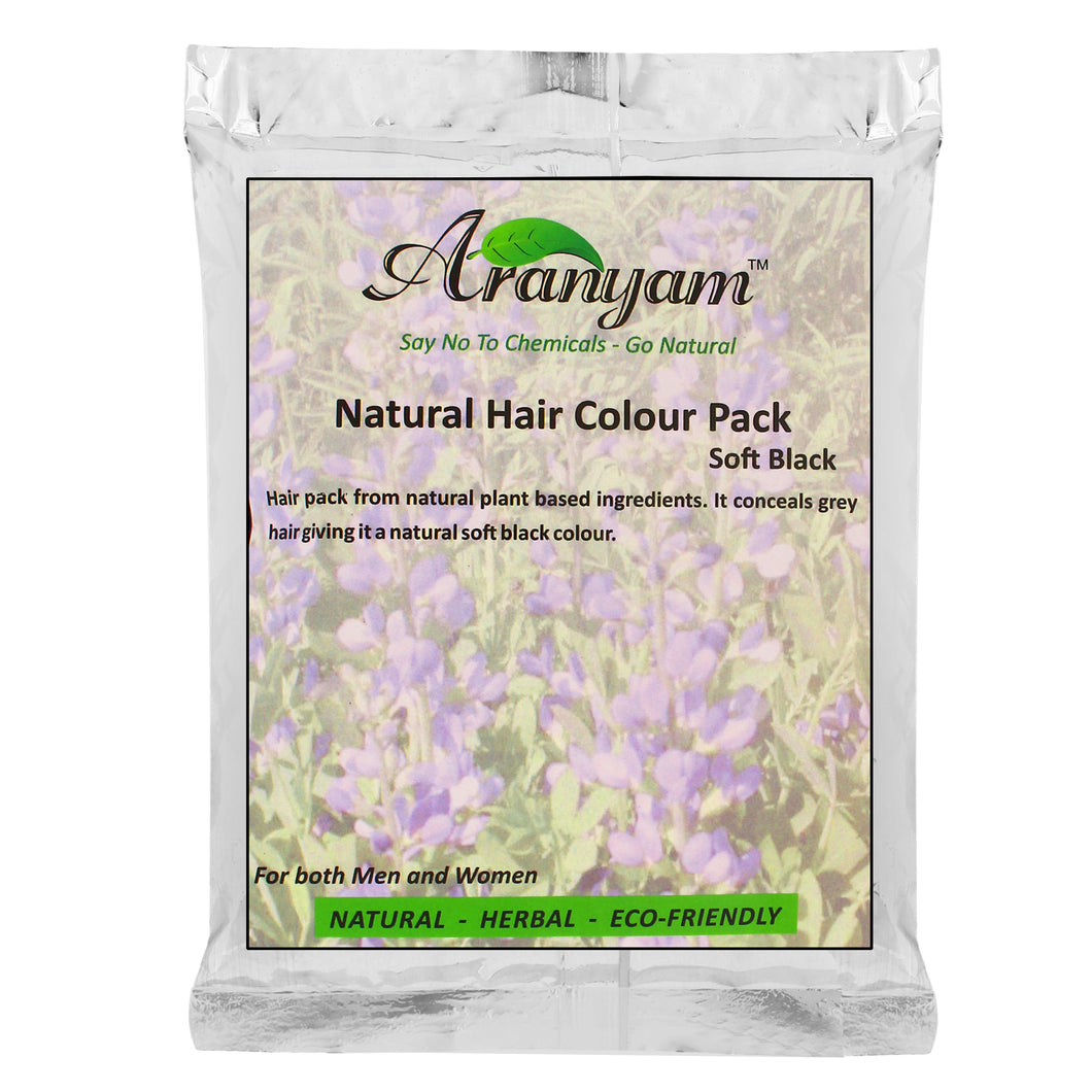 Natural Colour and Nourish Hair Pack, Soft Black