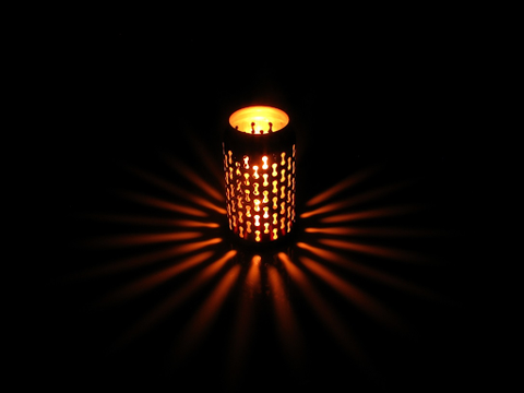 recycled can lantern