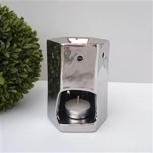 Chrome Hexagonal Tea Light Warmer - St Andrews Handcrafted