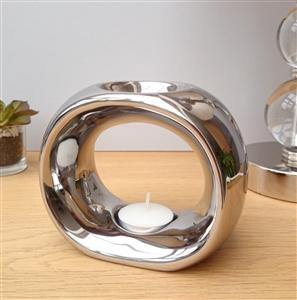 Chrome Olympic Tea Light Warmer - St Andrews Handcrafted