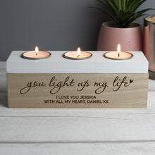 Load image into Gallery viewer, You light up my life tea light holder - St Andrews Handcrafted