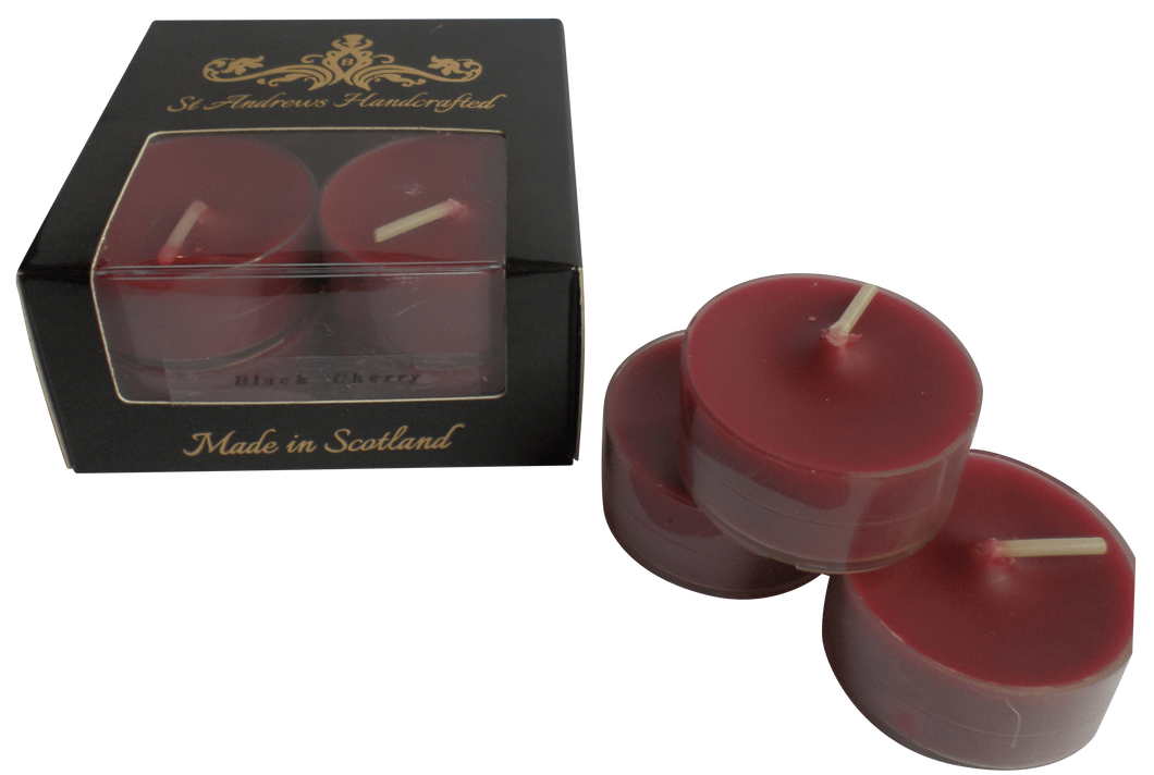 Black Cherry Tea Lights - St Andrews Handcrafted
