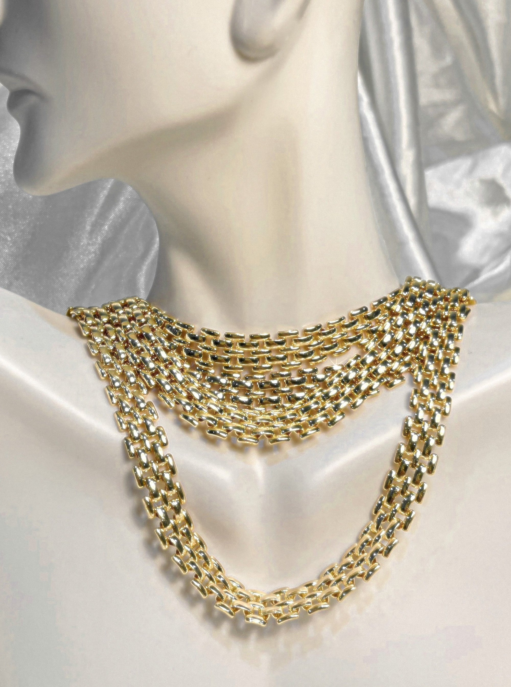 Anaïs Flat Chain Necklace 18K Gold Plated