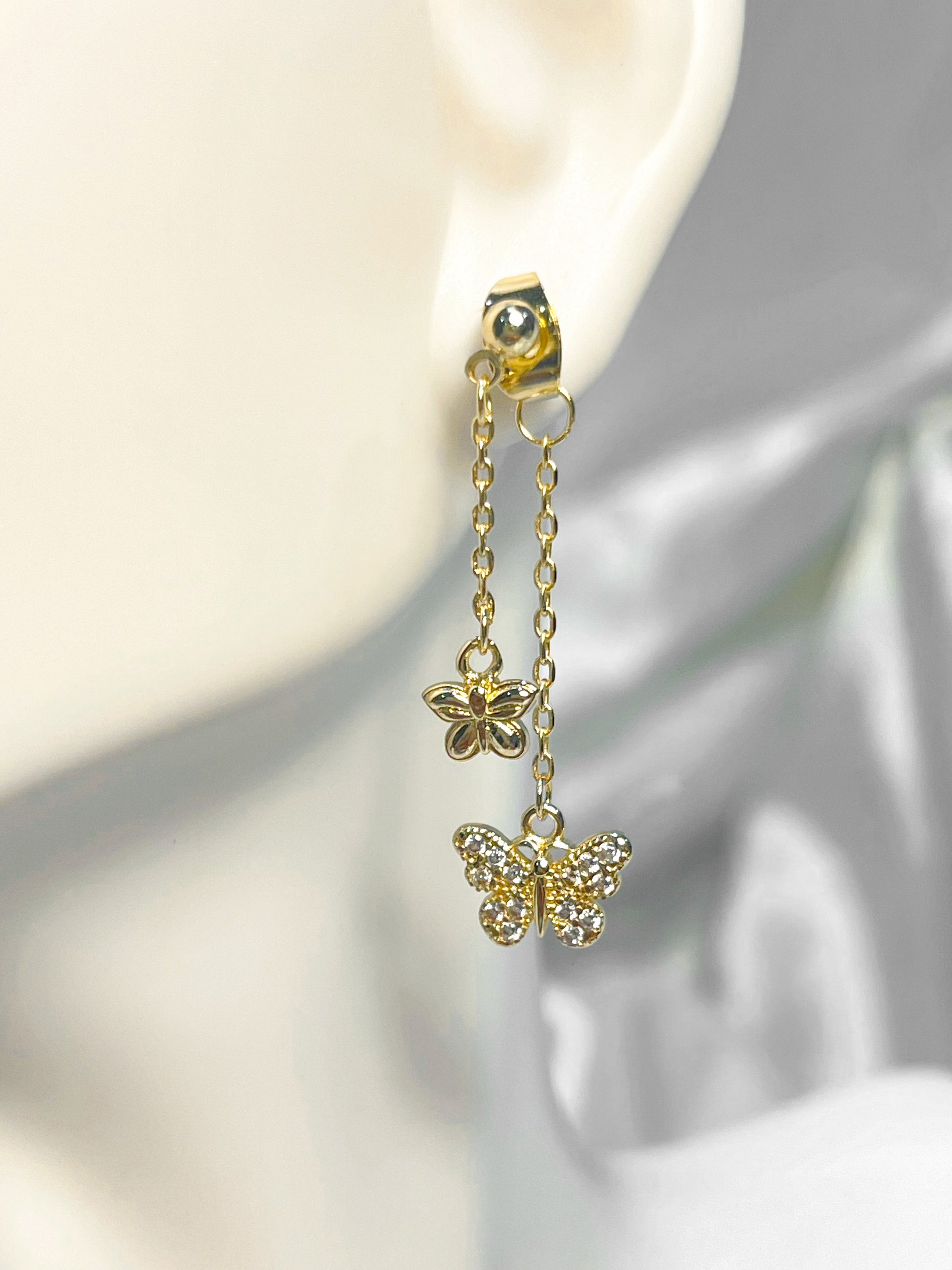 Anaïs Butterfly Earrings 18K Gold Plated
