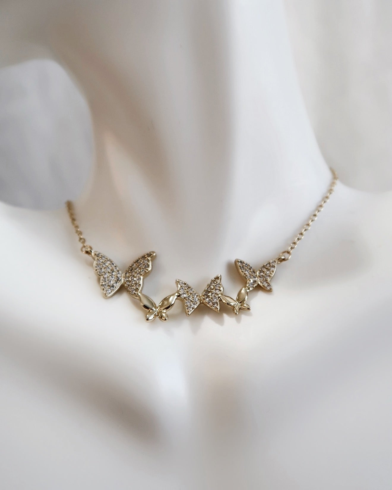 Anaïs Butterflies Necklace 18K Gold Plated