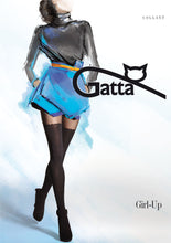 Lade das Bild in den Galerie-Viewer, Gatta Girl-Up 11 | gemusterte Strumpfhose Overknee
