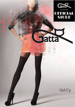 Load image into Gallery viewer, Gatta Girl-Up 16 | gemusterte Strumpfhose Overknee