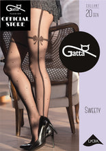 Load image into Gallery viewer, Gatta Sweety 14 | 20DEN | gemusterte Strumpfhose