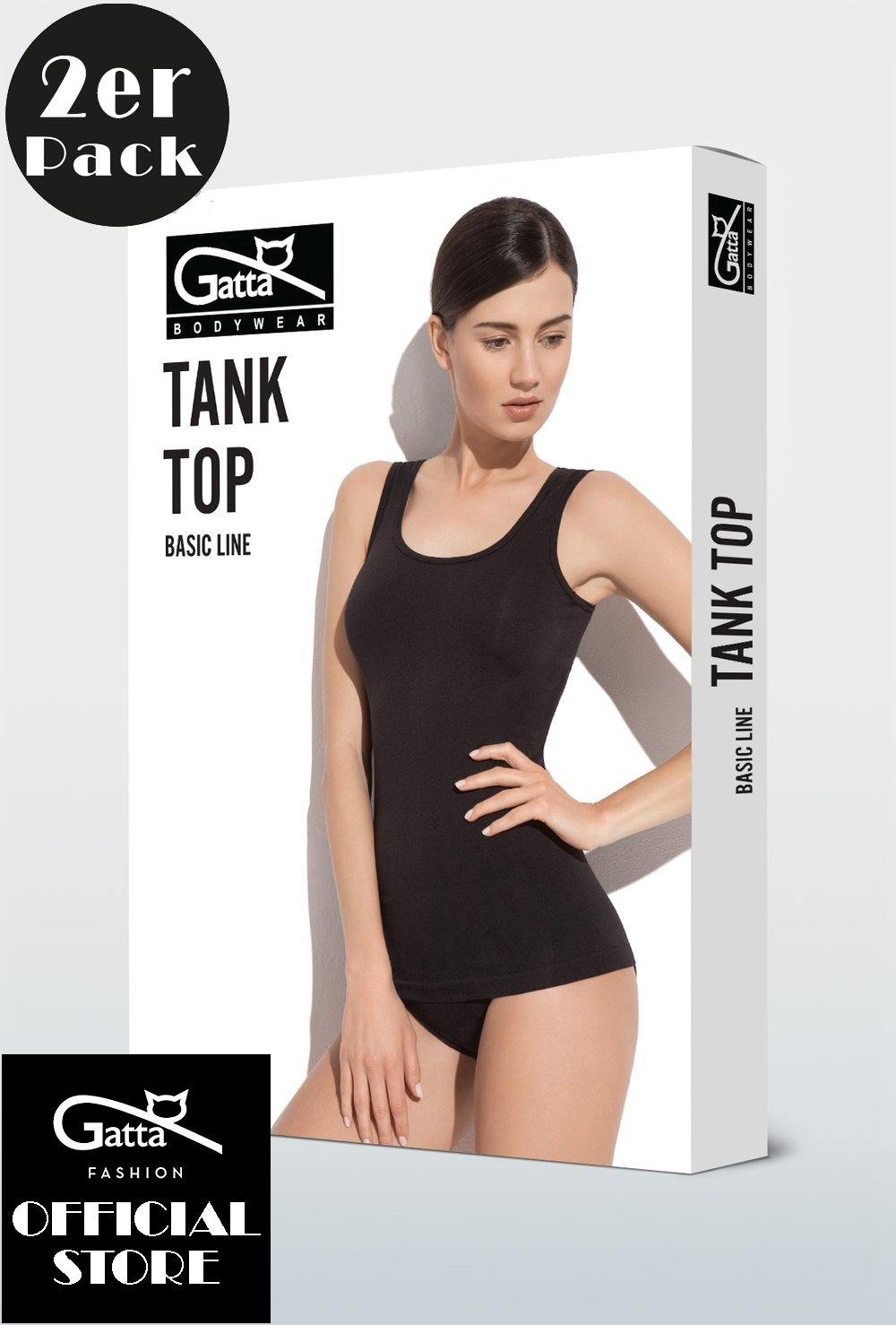 Gatta Damen Tank Top Shirt | 2er Pack | Microfaser - GATTA FASHION