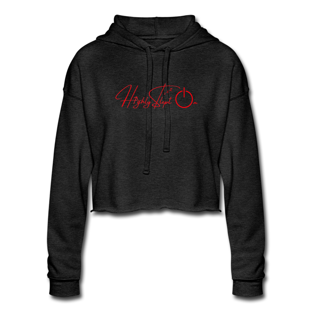 Women's Cropped Hoodie Design Red - deep heather