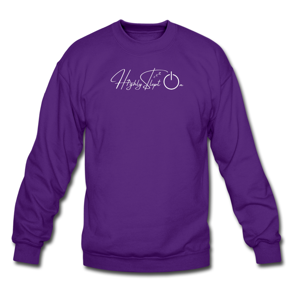 Unisex Sweatshirt Design White - purple