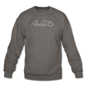 Unisex Sweatshirt Design White - asphalt gray