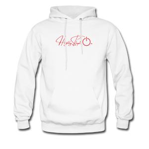 Men's Hoodie Design Red - white
